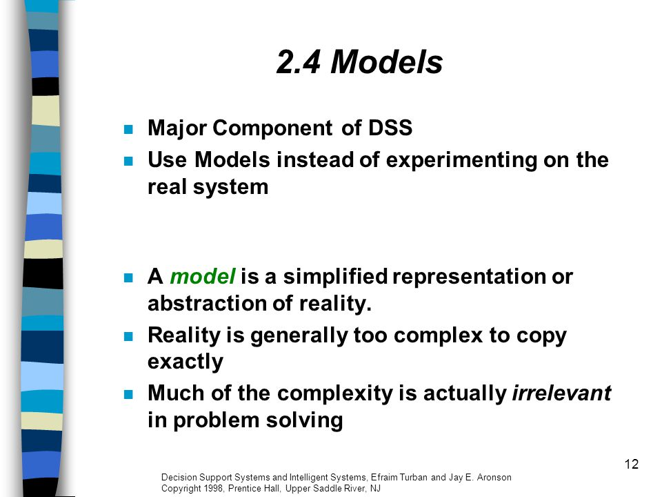 2.4 Models Major Component of DSS