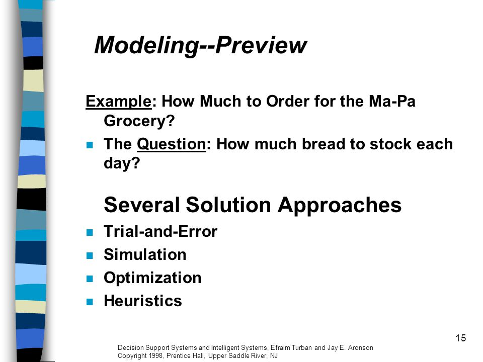 Modeling--Preview Example: How Much to Order for the Ma-Pa Grocery