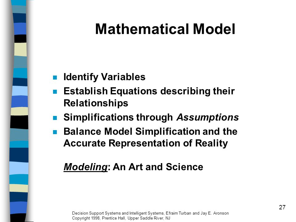 Mathematical Model Identify Variables