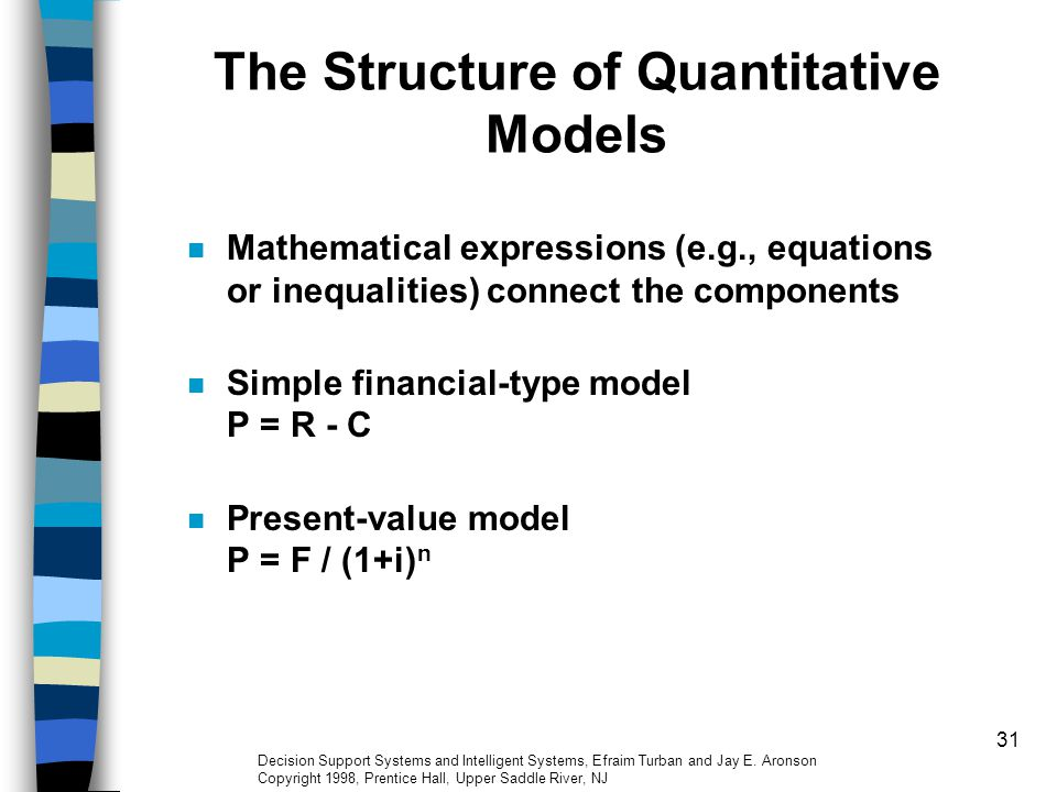 The Structure of Quantitative Models