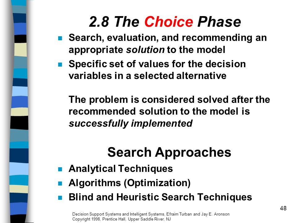 2.8 The Choice Phase Search Approaches