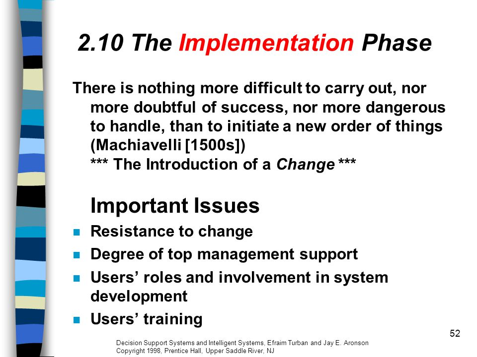 2.10 The Implementation Phase