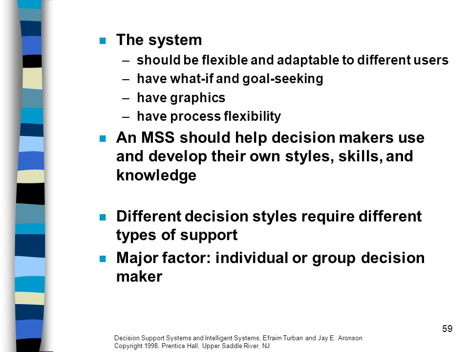 Different decision styles require different types of support