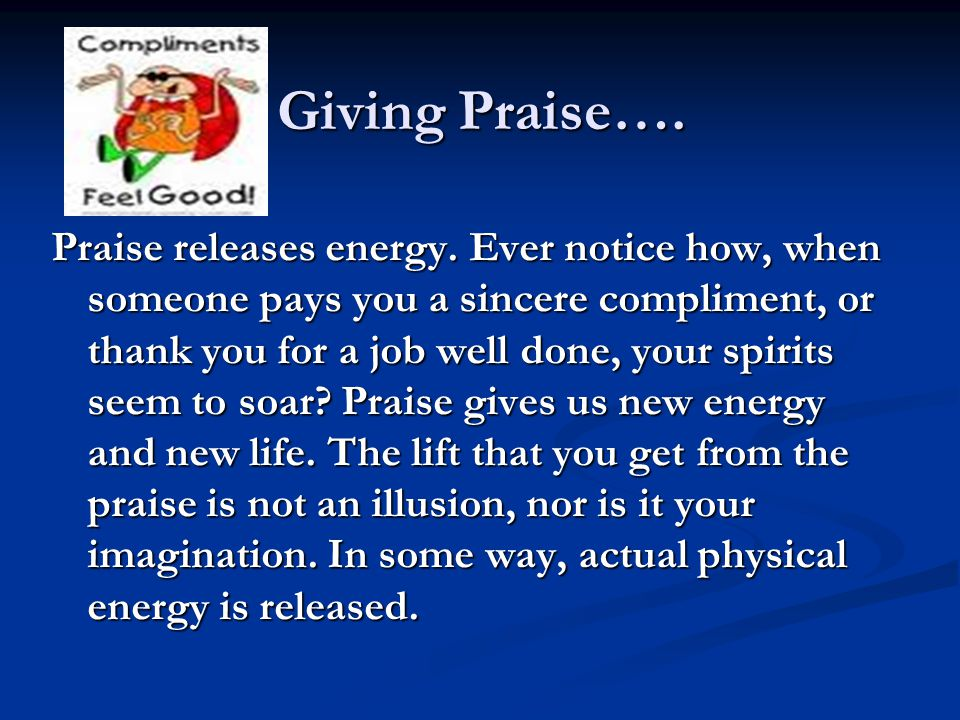 Giving Praise….