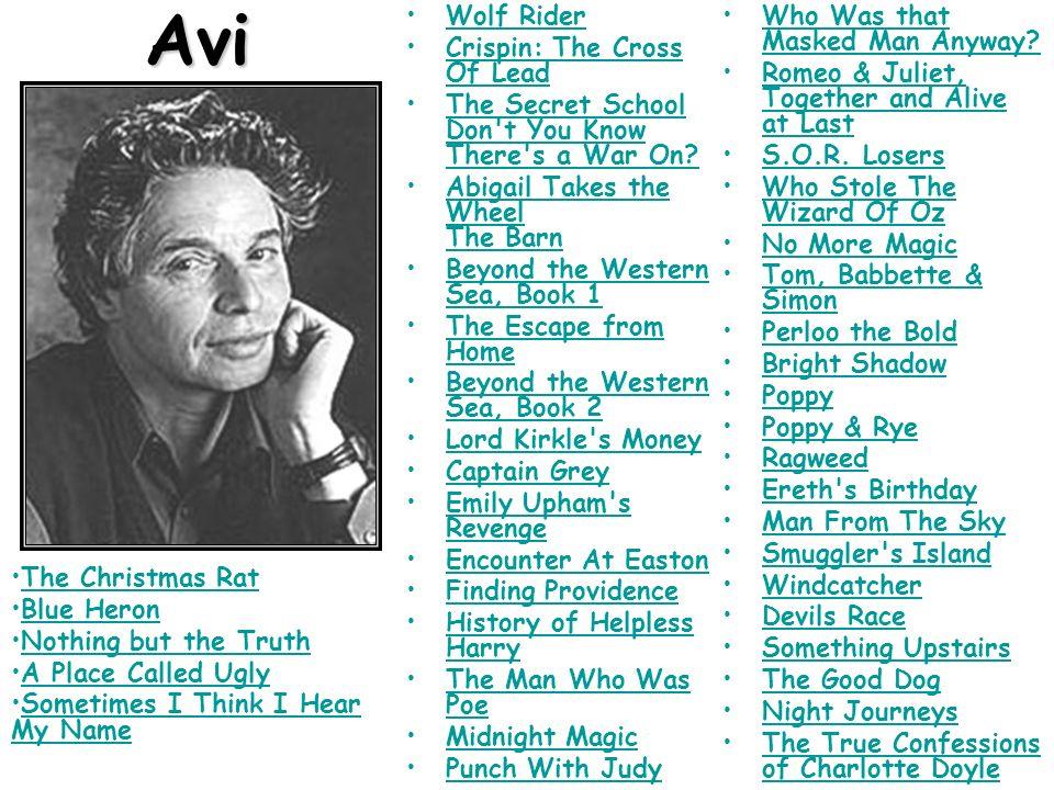 Avi Wolf Rider Crispin: The Cross Of Lead