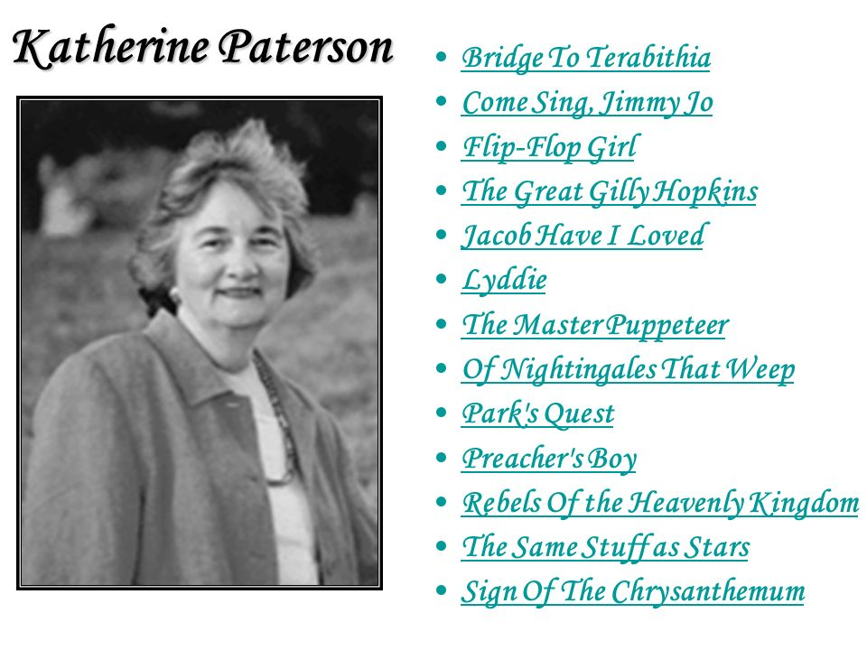Katherine Paterson Bridge To Terabithia Come Sing, Jimmy Jo