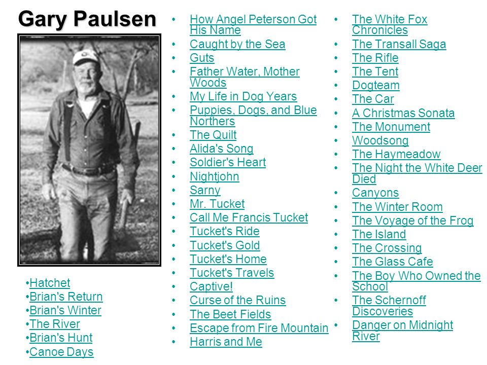 Gary Paulsen How Angel Peterson Got His Name Caught by the Sea Guts