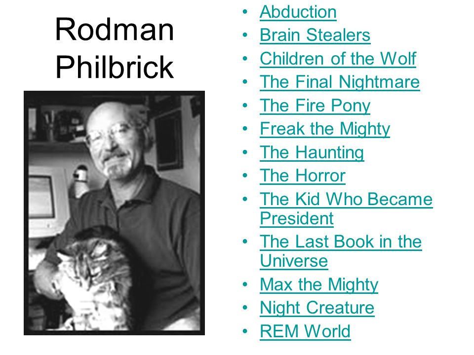 Rodman Philbrick Abduction Brain Stealers Children of the Wolf