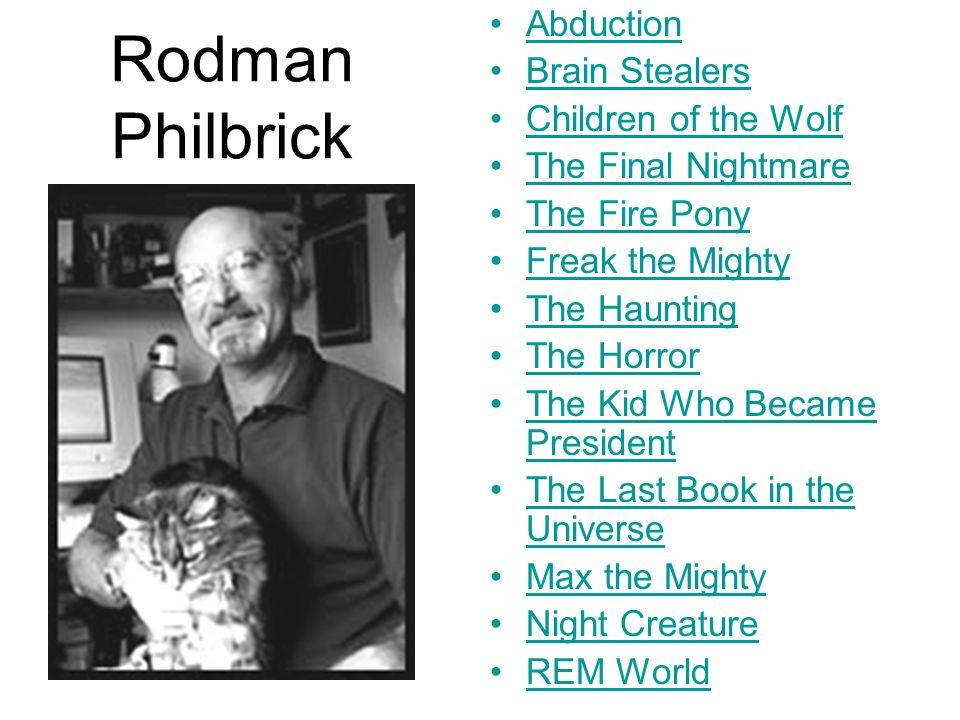 Rodman Philbrick Abduction Brain Stealers Children of the Wolf