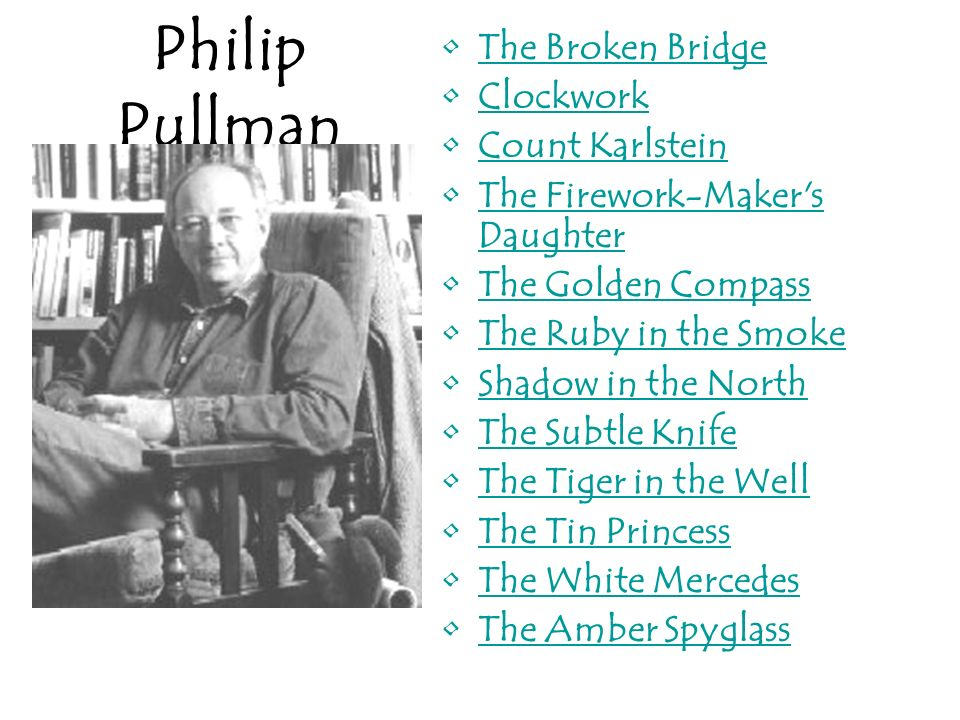Philip Pullman The Broken Bridge Clockwork Count Karlstein