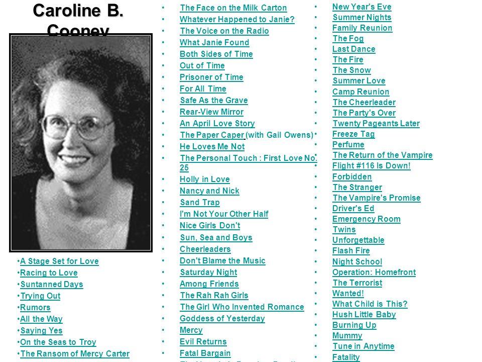 Caroline B. Cooney The Face on the Milk Carton