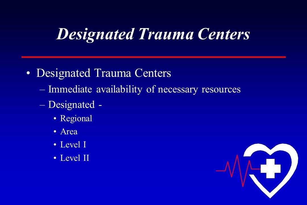 Designated Trauma Centers
