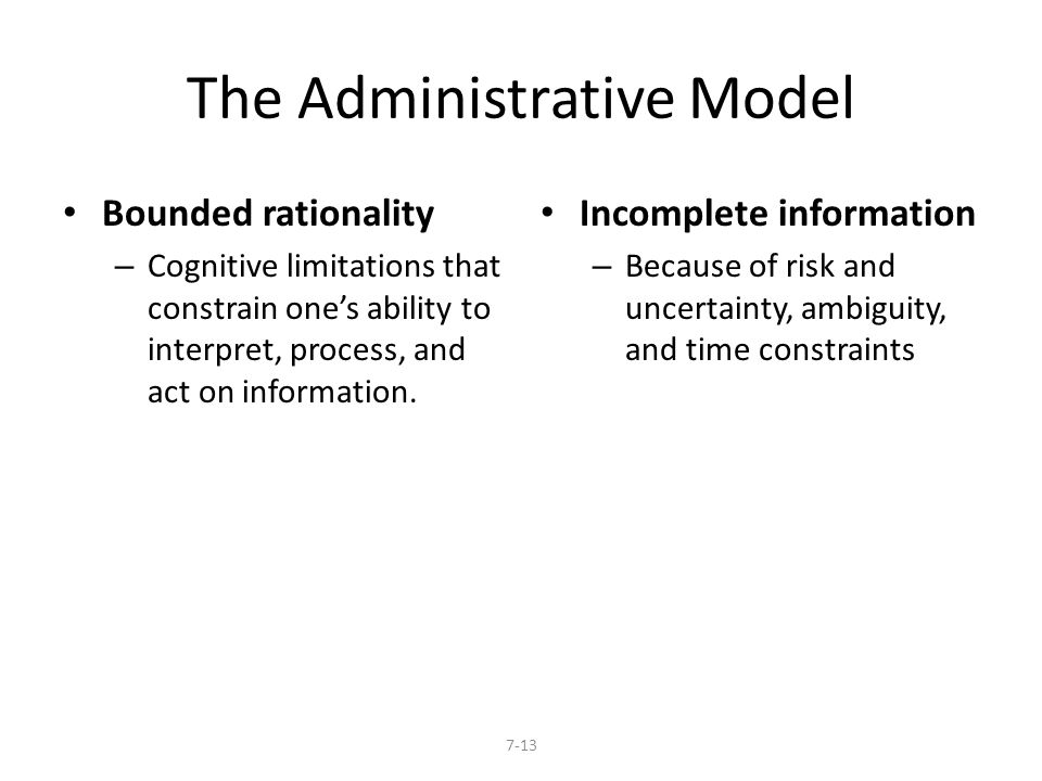 The Administrative Model