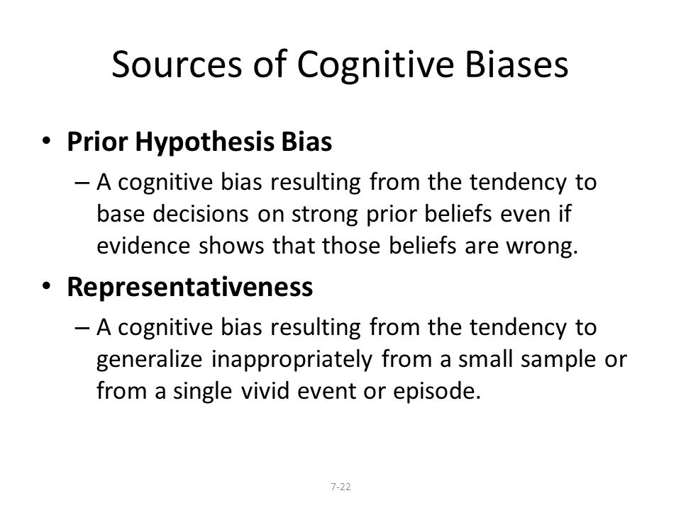 Sources of Cognitive Biases