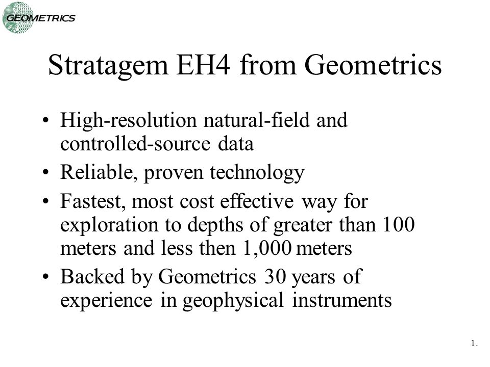 Stratagem EH4 from Geometrics