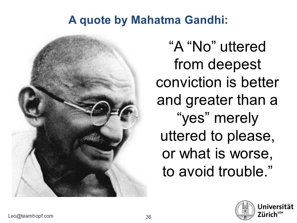A quote by Mahatma Gandhi: