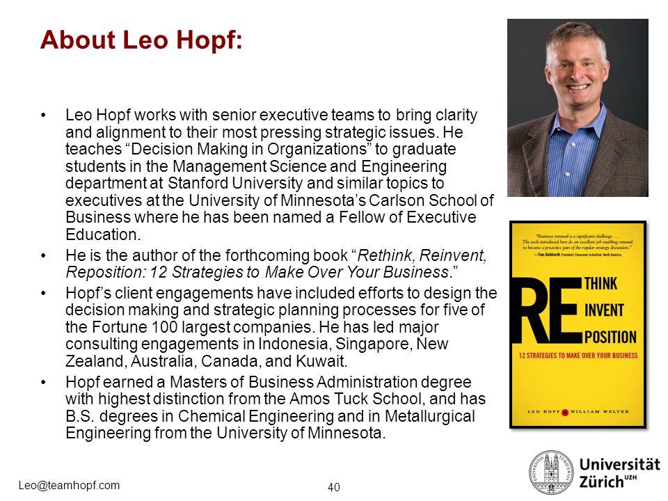About Leo Hopf: