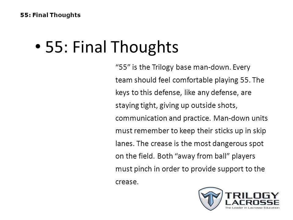 55: Final Thoughts 55: Final Thoughts.