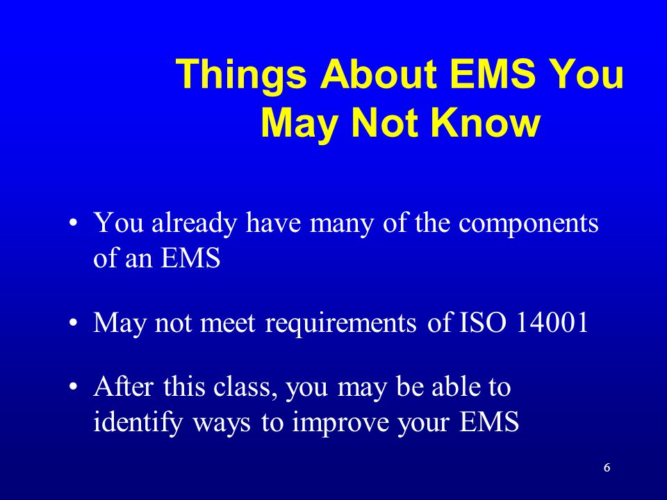 Things About EMS You May Not Know