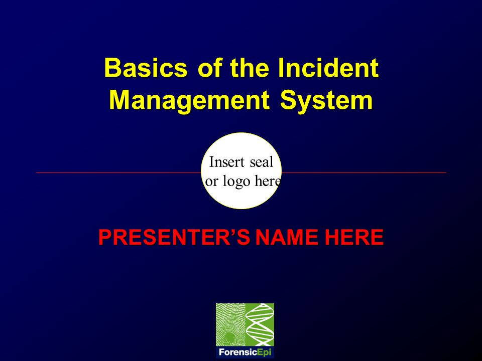 Basics of the Incident Management System