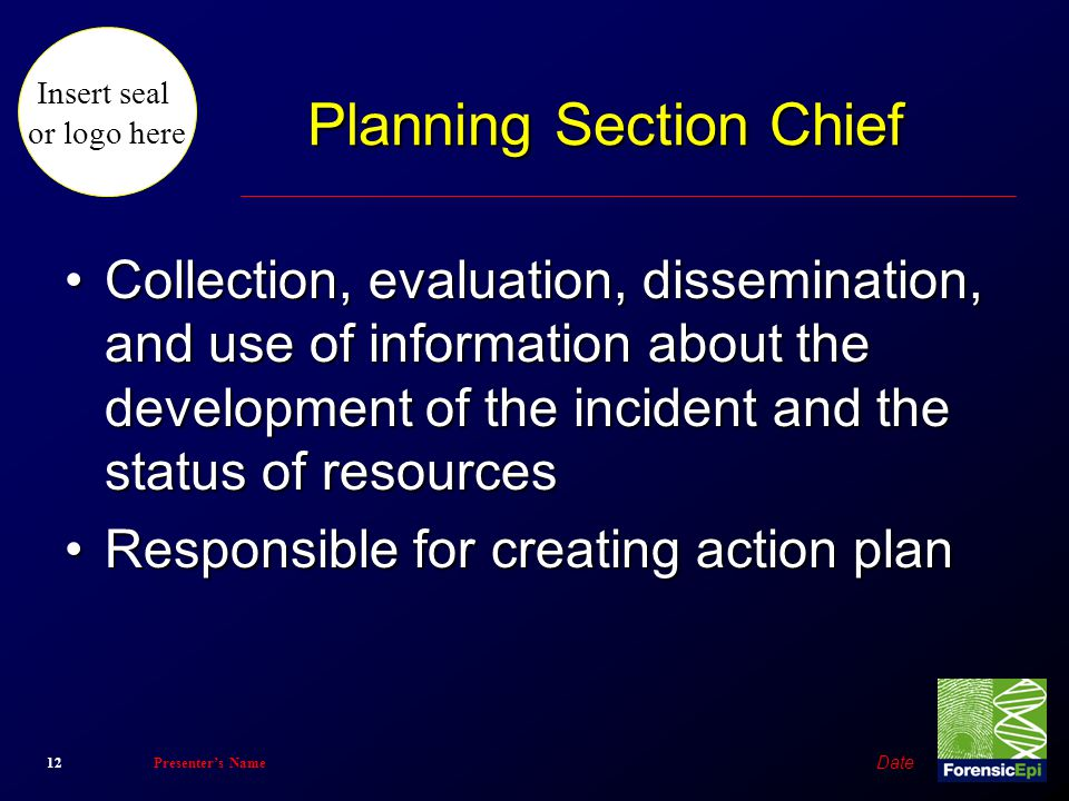 Planning Section Chief
