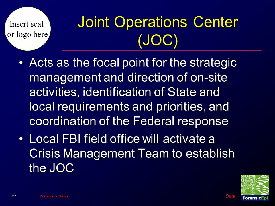 Joint Operations Center (JOC)