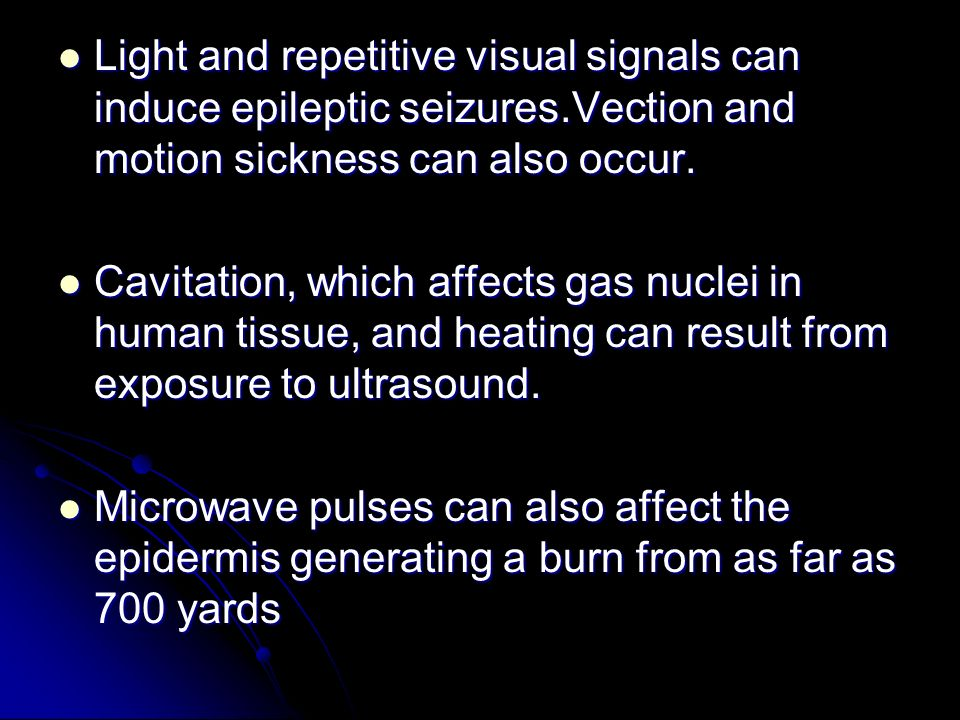 Light and repetitive visual signals can induce epileptic seizures
