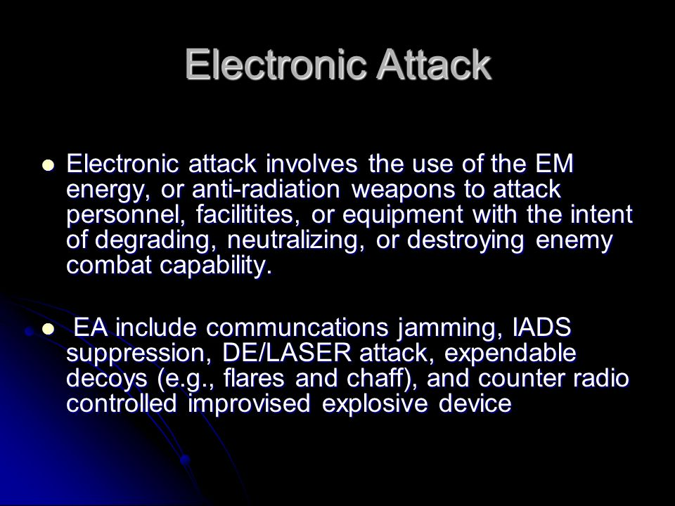Electronic Attack