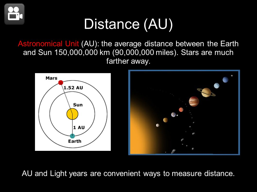AU and Light years are convenient ways to measure distance.