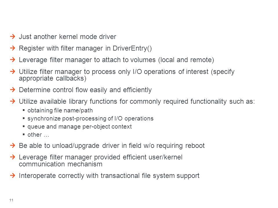 Minifilter Development