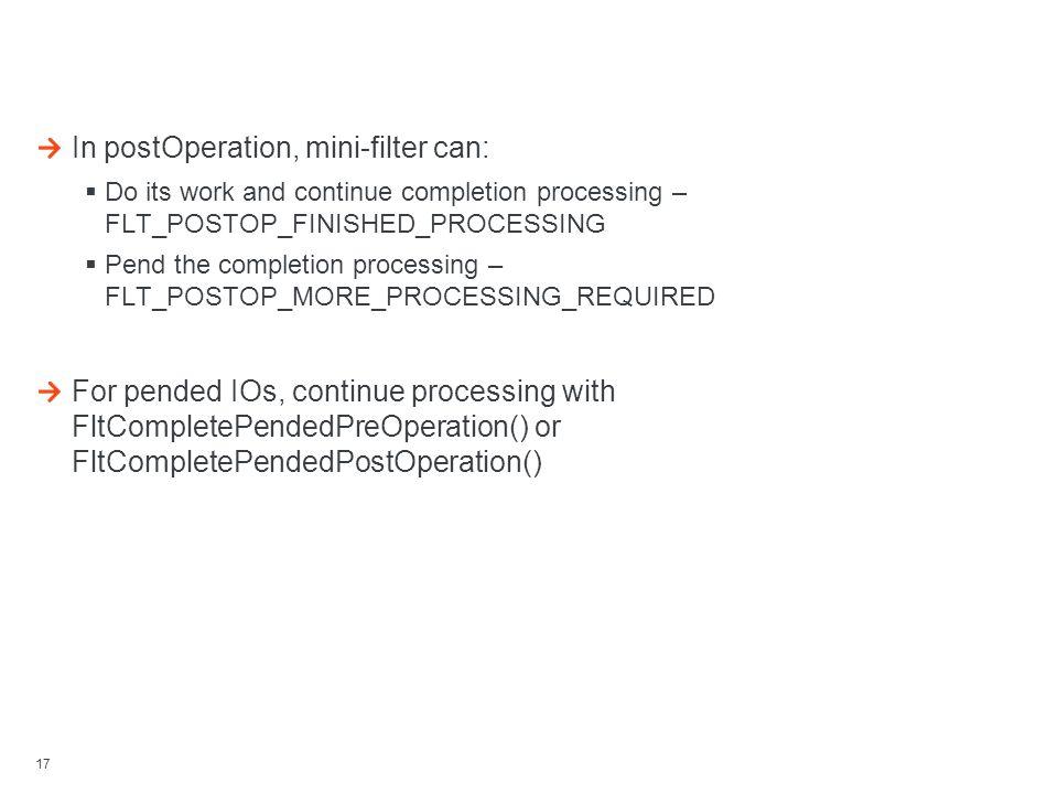 Managing IO Processing