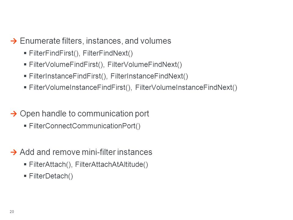 Filter Manager's User-mode Library