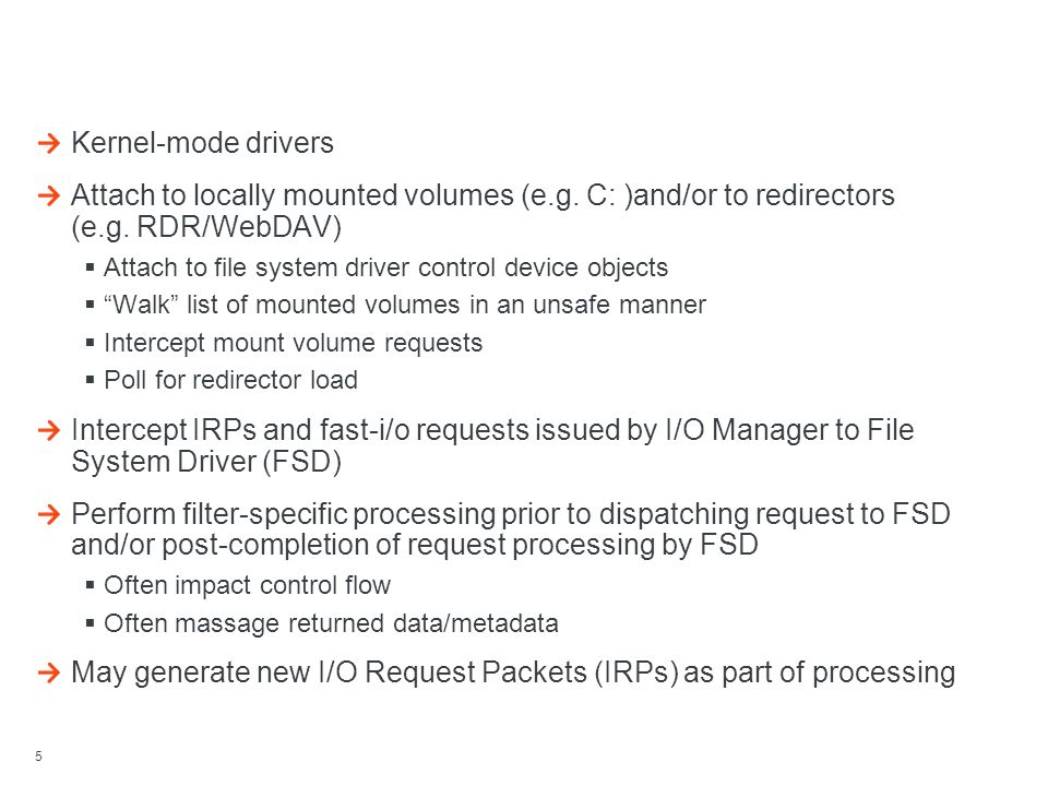Architecture Of (Legacy) File System Filters