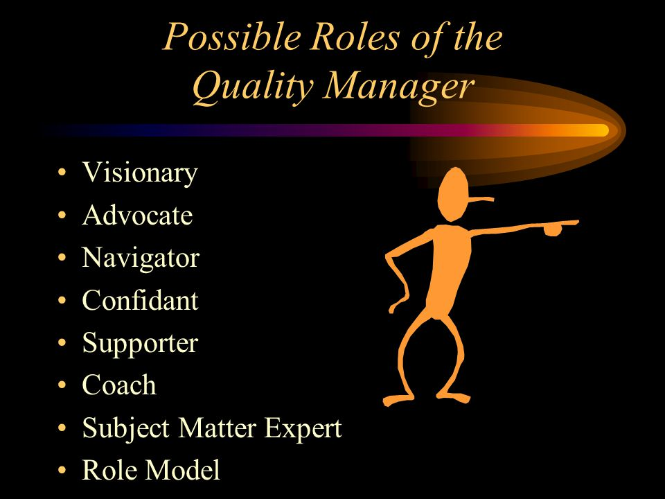 Possible Roles of the Quality Manager