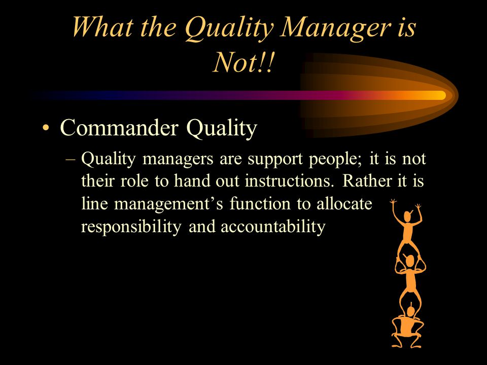 What the Quality Manager is Not!!