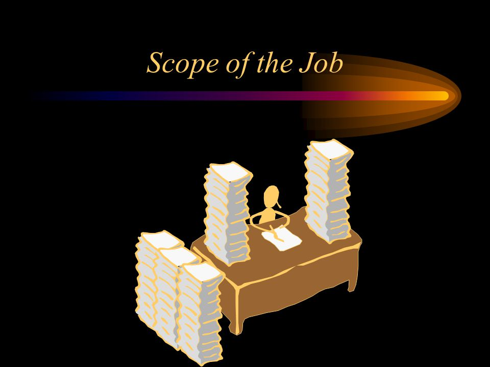 Scope of the Job Lets get down to specifics regarding what the QM actually does on a day to day basis.The following are typical tasks.