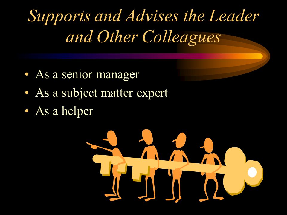 Supports and Advises the Leader and Other Colleagues