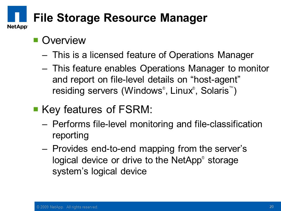 File Storage Resource Manager