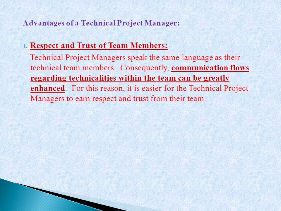 Respect and Trust of Team Members: