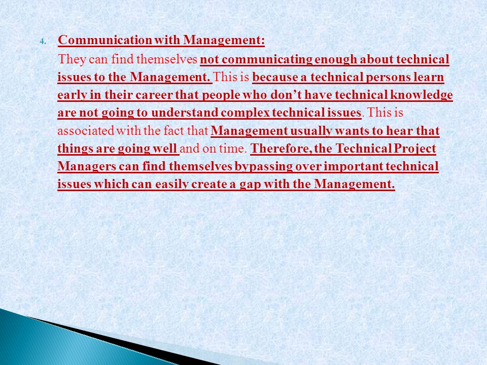 Communication with Management: