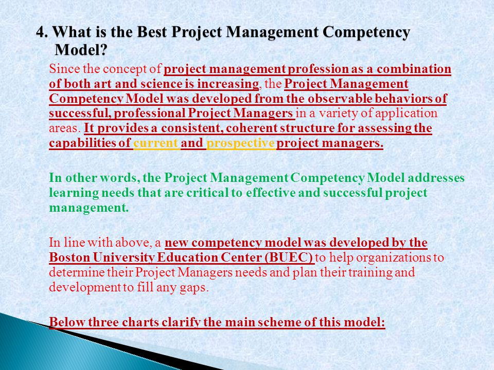 4. What is the Best Project Management Competency Model