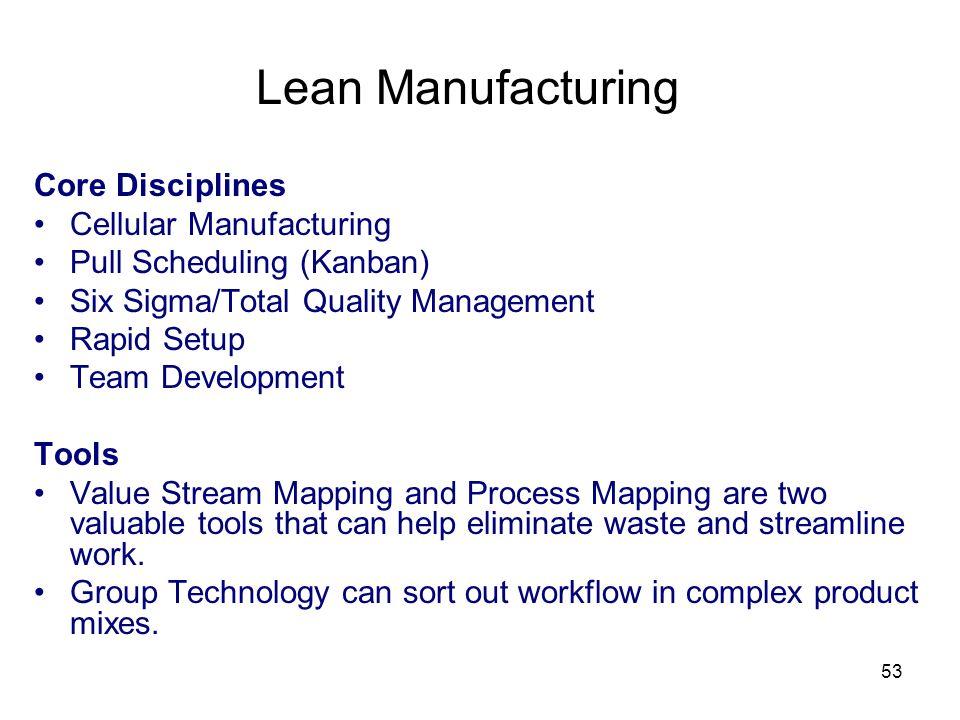 Lean Manufacturing Core Disciplines Cellular Manufacturing