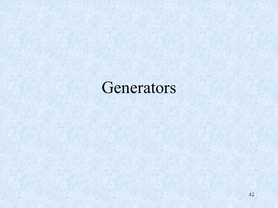 Generators 42