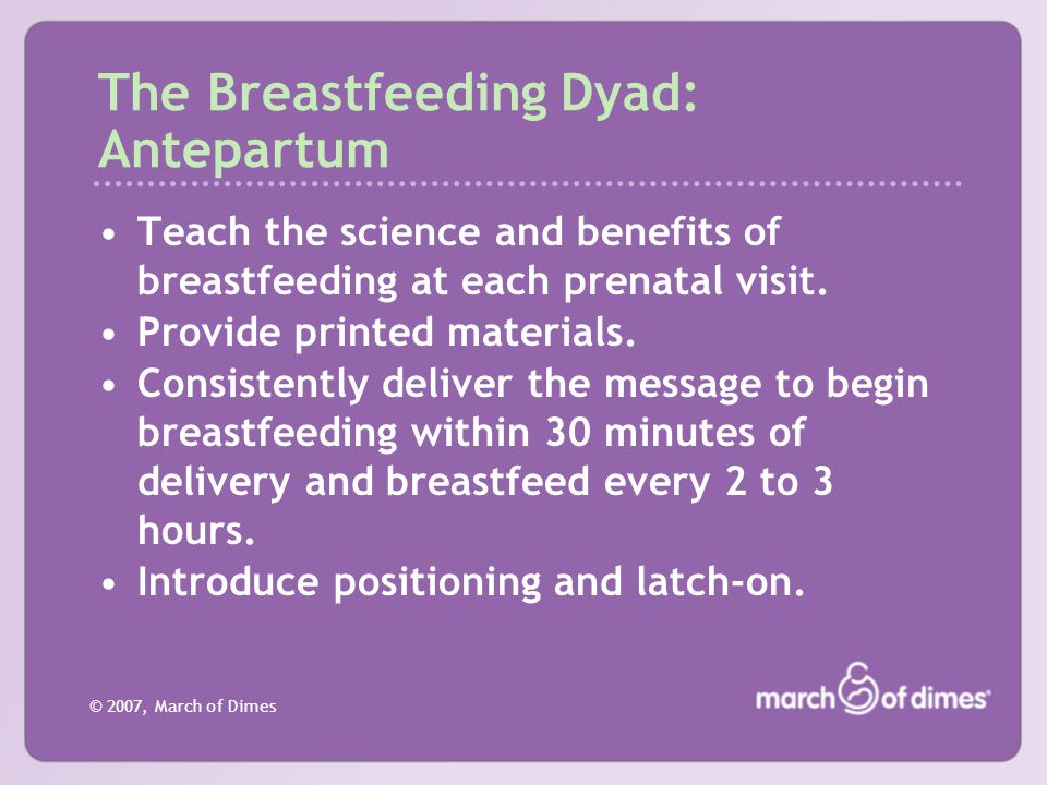 The Breastfeeding Dyad: Antepartum