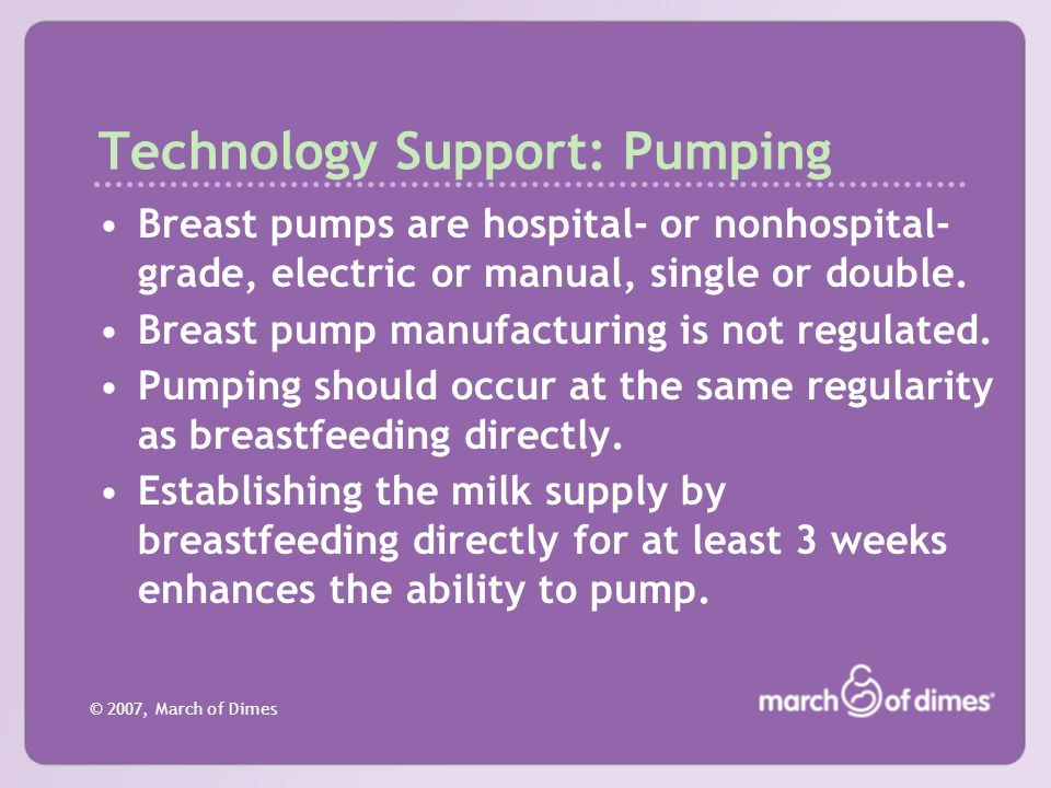 Technology Support: Pumping