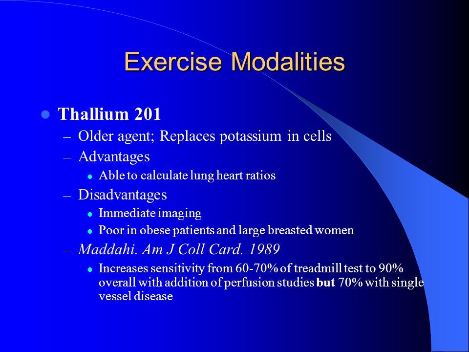 Exercise Modalities Thallium 201