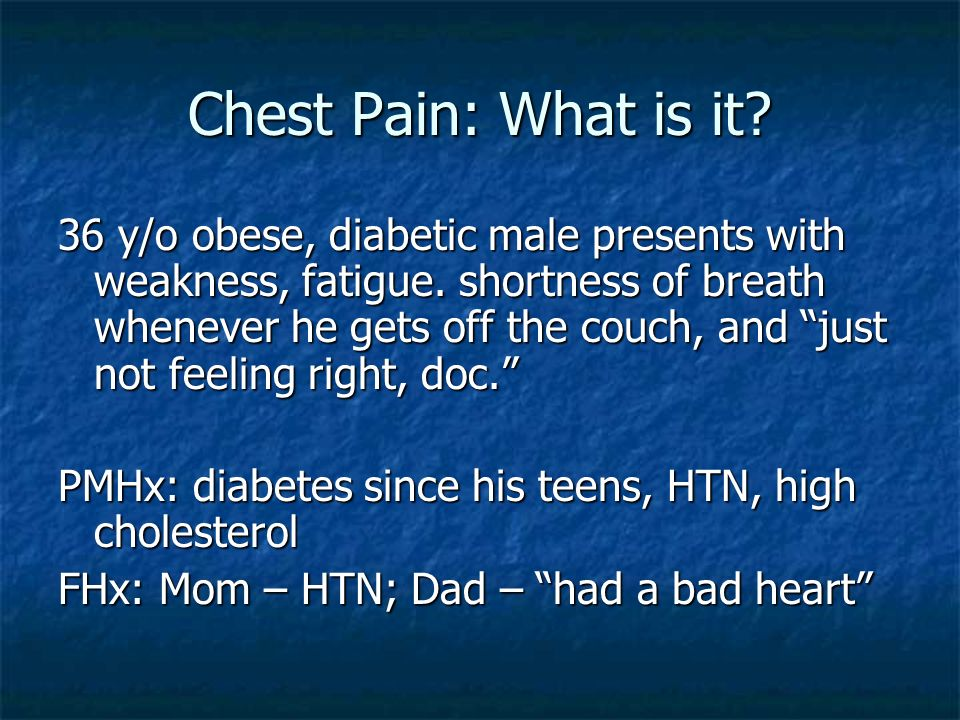 Chest Pain: What is it