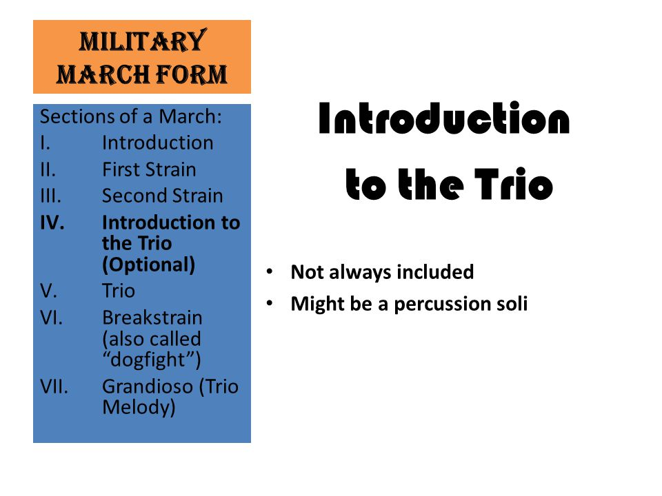 Introduction to the Trio