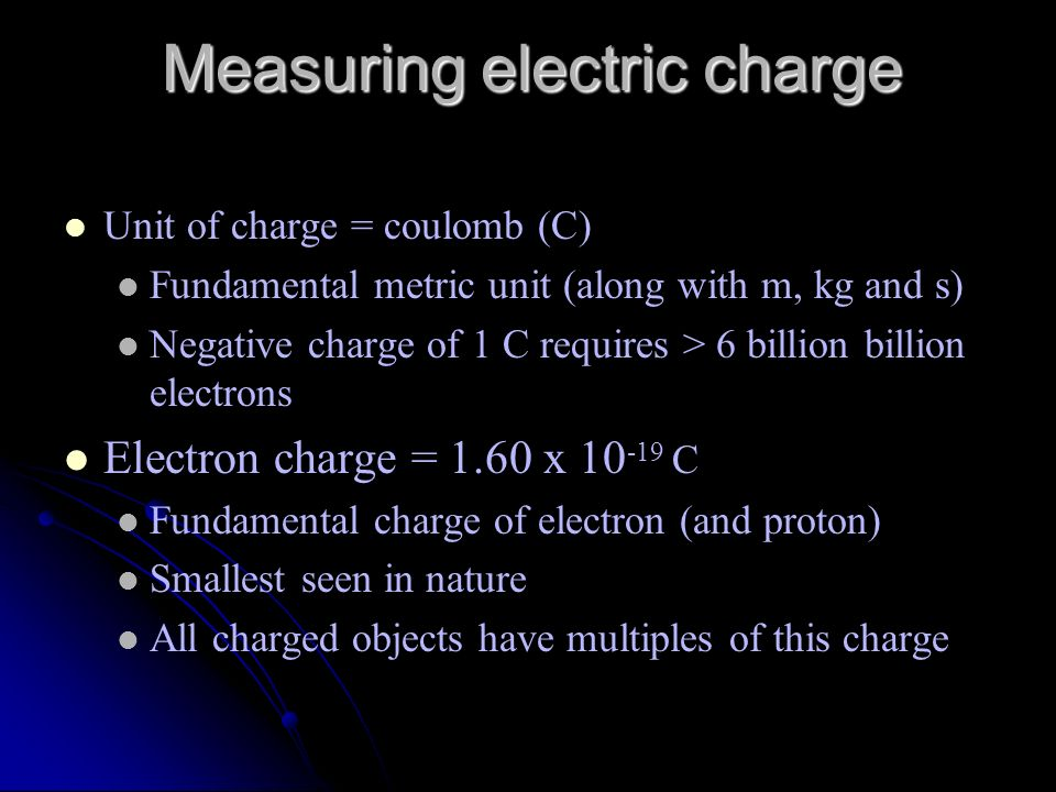 Measuring electric charge