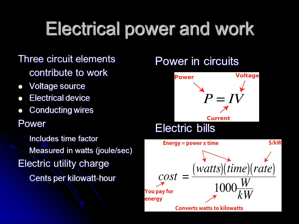 Electrical power and work